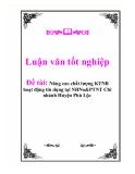 """Báo cáo """"Nâng cao chất lượng KTNB hoạt động tín dụng tại NHNo&PTNT Chi nhánh Huyện Phú Lộc"""""""