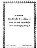 Luận văn Tìm hiểu hệ thống động từ trong thơ tình Xuân Diệu trước cách mạng tháng 8
