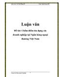 Đề tài: Chấm điểm tín dụng các doanh nghiệp tại Ngân hàng ngoại thương Việt Nam