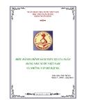 Đề tài: Điều hành chính sách tiền tệ của ngân hàng nhà nước Việt Nam và những vấn đề đặt ra