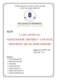 Tiểu luận: Case Study 8.1 Sedgemoor District Council