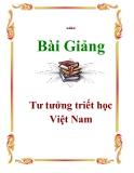Giáo trình: Tư tưởng triết học Việt Nam