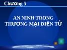 BÀI GIẢNG THƯƠNG MẠI ĐIỆN TỬ - CHƯƠNG 5 AN NINH TRONG THƯƠNG MẠI ĐIỆN TỬ