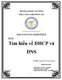 Luận văn: Tìm hiểu về DHCP và DNS