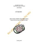 Bài giảng Phân tích điện hóa - Lê Thị Mùi