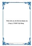Phân tích các chỉ tiêu lợi nhuận của Công ty TNHH Việt Hưng