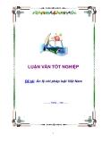 Luận án ngành luật - Án lệ với pháp luật Việt Nam