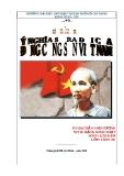 """Tiểu luận """"Ý nghĩa lịch sử sự ra đời của Đảng cộng sản Việt Nam"""""""
