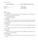 Đề kiểm tra 1 tiết môn Vật lý lớp 8 (Có đáp án)