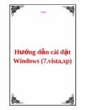 Hướng dẫn cài đặt Windows (7.vista,xp)