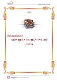 Trương Trung Nghĩa  Baì tập nhóm: môn quản trị hành vi tổ chức