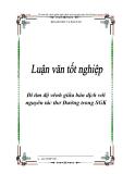 """Niên luận """"Đi tìm độ vênh giữa bản dịch với nguyên tác thơ Đường trong SGK"""""""