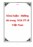 Khoá luận:  đường thi trong  SGK PT ở Việt Nam