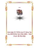 Khóa luận NCVHTQ của SV Khoa Ngữ văn, ĐHTH Hà Nội (1966-2000) - Nhìn từ góc độ tiếp nhận