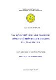 Luận văn: Xây dựng chiến lược kinh doanh cho Công ty Du lịch An Giang giai đoạn 2006 - 2010