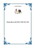 Hướng dẫn cài đặt MISA SME.NET 2010