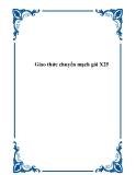 Giao thức chuyển mạch gói X25 - Mai Xuân Hoàn
