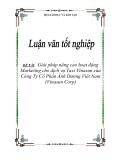Luận văn tốt nghiệp - Đề tài: Giải pháp nâng cao hoạt động Marketing cho dịch vụ Taxii Vinasun của công ty Cổ phần Ánh Dương VN (Vinasun Corp)