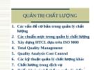 Bài giảng Quản trị chất lượng: Các chuẩn mực trong quản lý chất lượng