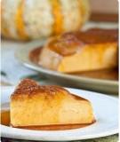 Mịn màng thơm ngậy Bánh flan bí ngô