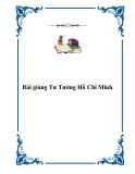 Sách học về môn Tư Tưởng Hồ Chí Minh