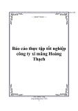 Báo cáo thực tập tốt nghiệp công ty xi măng Hoàng Thạch