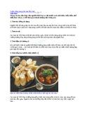 9 Đặc trưng trong văn hóa ẩm thực Việt Nam