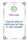 Tiểu luận: Công tác quản trị chiến lược tại Công Ty Sữa Vinamilk