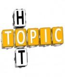 Writing topics TOEFL
