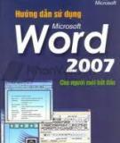 Cách hướng dẫn sử dụng word 2007