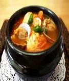 Nấu món Hàn Quốc: Canh ngao kim chi