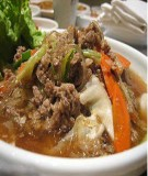 Miến nấu nấm kiểu Hàn Quốc