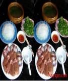 Món Lòng gà nấu lẩu