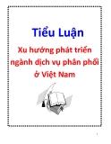 Tiểu luận: Xu hướng phát triển ngành dịch vụ phân phối ở Việt Nam