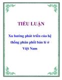 Tiểu luận: Xu hướng phát triển của hệ thống phân phối bán lẻ ở Việt Nam