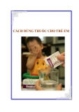 Cách dùng thuốc cho trẻ em