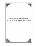 MEMOIRE DE RECHERCHE - D.E.A SCIENCES DE GESTION