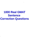 1000 Real GMAT Sentence Correction Questions