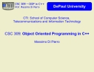 Object Orirnted programming in C++