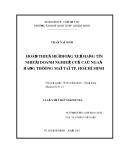 Luận văn thạc sỹ kinh tế: Hoàn thiện hệ thống xếp hạng tín nhiệm doanh nghiệp của các ngân hàng thương mại tại Thành phố Hồ Chí Minh