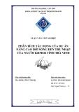 PHÂN TÍCH TÁC ĐỘNG CỦA DỰ ÁN NÂNG CAO ĐỜI SỐNG ĐẾN THU NHẬP CỦA NGƯỜI KHMER TỈNH TRÀ VINH