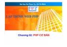 Bài giảng Lập trình web PHP - Chương 02: PHP cơ bản -  Trường ĐH SP Tp. HCM