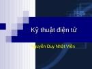 kỹ thuật điện tử (Nguyễn Duy Nhật Viễn) - Chương 3: BJT và ứng dụng