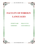 """BÁO CÁO """" FACULTY OF FOREIGN LANGUAGES """""""