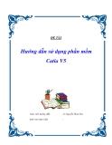 Luận văn tốt nghiệp: Hướng dẫn sử dụng phần mềm Catia V5
