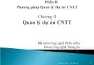 Nhập môn  Công nghệ phần mềm - Phần II : Phương pháp Quản lý Dự án CNTT