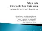 Nhập môn Công nghệ phần mềm - Phần I Giới thiệu chung về CNPM
