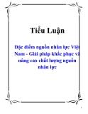 Tiểu luận: Đặc điểm nguồn nhân lực Việt Nam - Giải pháp khắc phục và nâng cao chất lượng nguồn nhân lực