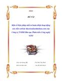 Đề tài : Một số biện pháp nhằm hoàn thiện hoạt động xúc tiến website thuviendoanhnhan.com của Công ty TNHH Đào tạo Phát triển Công nghệ VPIT