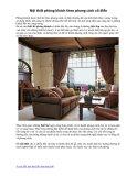 Nội thất phòng khách theo phong cách cổ điển